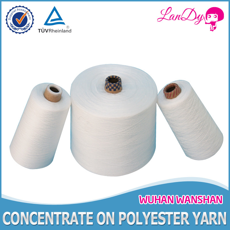 wholesale, high tenacity,100% spun optical white polyester sewing thread 50/2 with paper bobbin