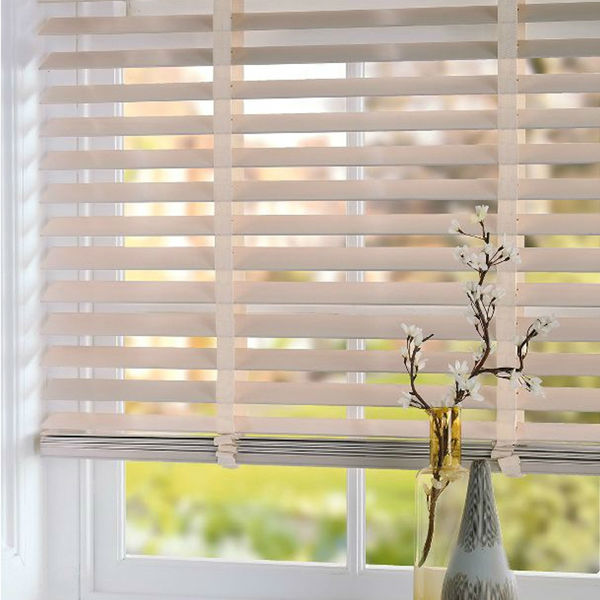 50mm Natural Wood mini Blinds venetian blinds magnetic window blinds