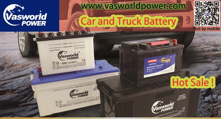 Excellent quality used car battery in MF N60 12V60AH batteries