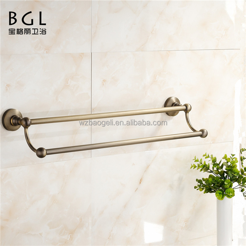 hot sale sanitary ware bathroom accessories antique bronze double towel bar
