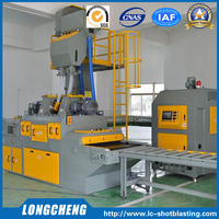Roller Conveyor Surface Cleaning Sand Blasting Machine