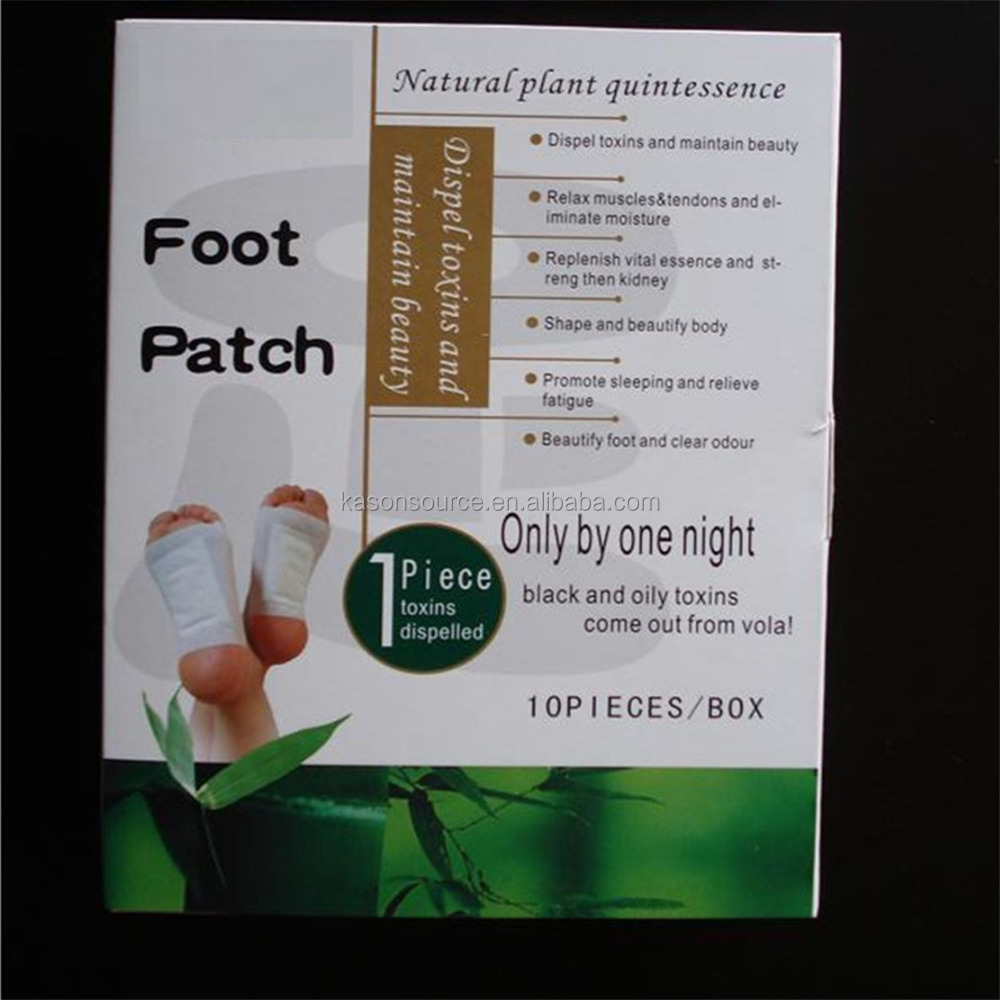 100% natural herbal bamboo crystal detox foot patch wholesales