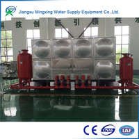 New design Stainless Steel storage galvanized water pressure tank for fire fighting