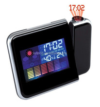 LED colorful weather station projection electronic clock weather forecast projection clock snooze alarm clock