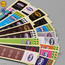 Sinicline colorful logo printed custom brand paper sticker labels usb cable stickers