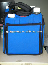 6 pack bottle neoprene beverage tote bag