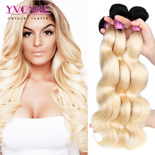 Yvonne hair 1b 613 body wave brazilian hair two tone