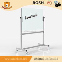 GB04 Business used high quality polished freestanding flexible magic whiteboard