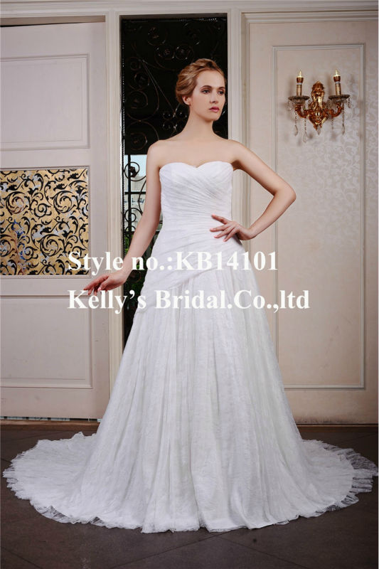 best selling wedding dress Backless design Appliqued lace and pleat berta wedding dress