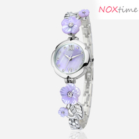 lilac flower bracelet Voeons Women's violet Watch