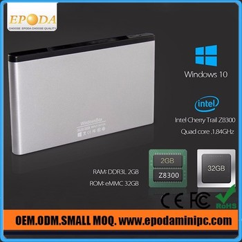 Wholesale Intel Z8300 Quad Core Portable Windows 10 Smart TV Box with WiFi and Bluetooth