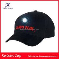 wholesale high quality custom made baseball caps and hats with LED light