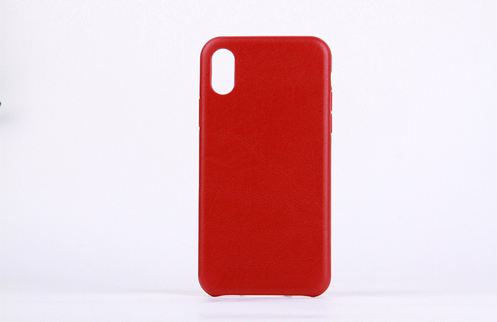 Red Blank Genuine Cow Leather Mobile Phone Case Genuine Leather Cell Phone Case