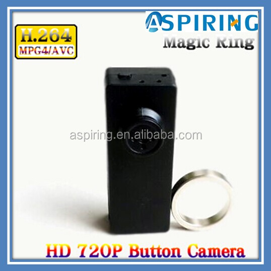 Full HD compact appearance design button hole camera
