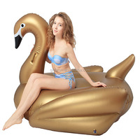 Gold giant inflatable swan float for adults, new arrival swan inflatable