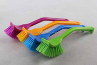 Plastic long handle pan brush with square head,cleaning brush, dish brush-3129