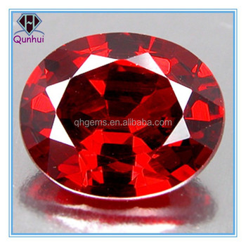 amazing oval shaped garnet gemstone
