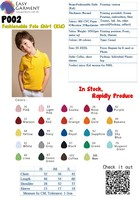 High Quality Customized Logo Printed Blank 195 grams Casual Polo Shirt(Kids)