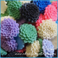 Wholesale resin rose flower beads! resin flatback cabochon