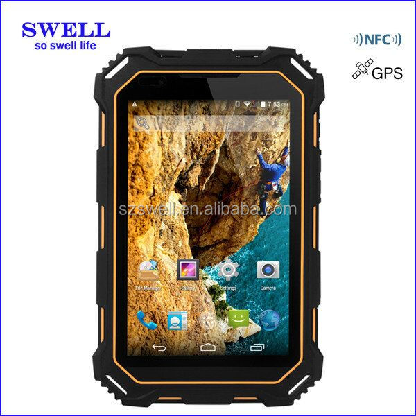 rugged android 5 tablet 2d Factory 7 inch Rugged Android Quad Core Fingerprint Scanner HF RFID Tablet PC