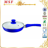 MSF popular ceramic aluminum divided frying pan with glass lid