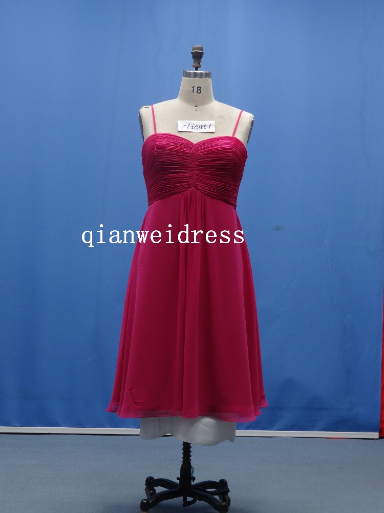 factory spaghetti strarp sexy deep red knee length bridesmaid patterns cheap homecoming dresses under 50
