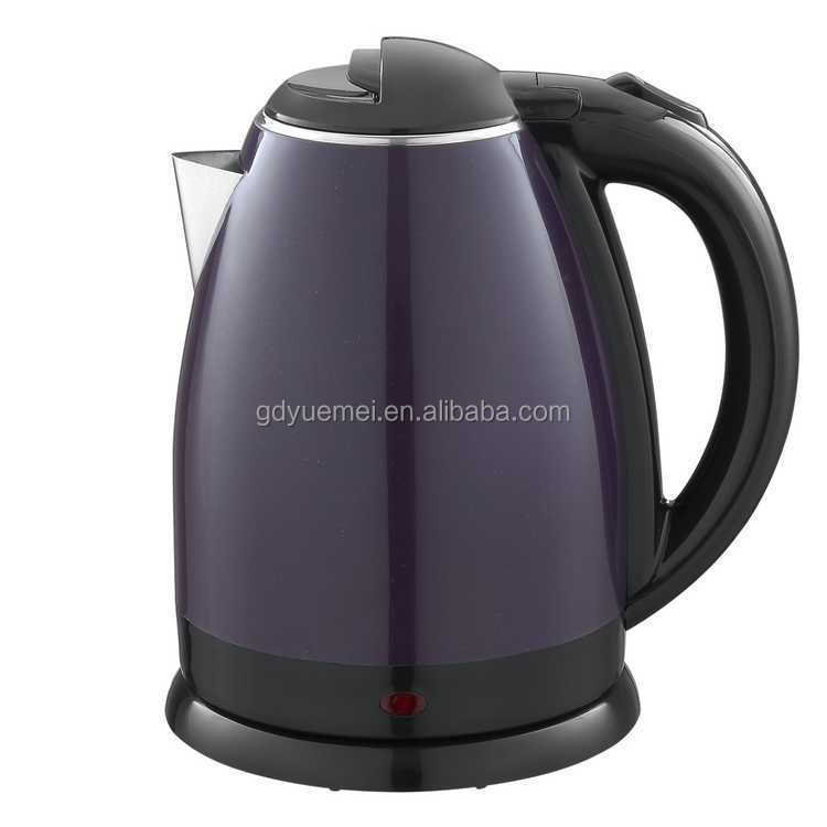 1.8L colorful plastic and stainless steel double wall electric water kettle