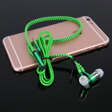 New products on china market in ear zipper 3.5mm earphone headphone