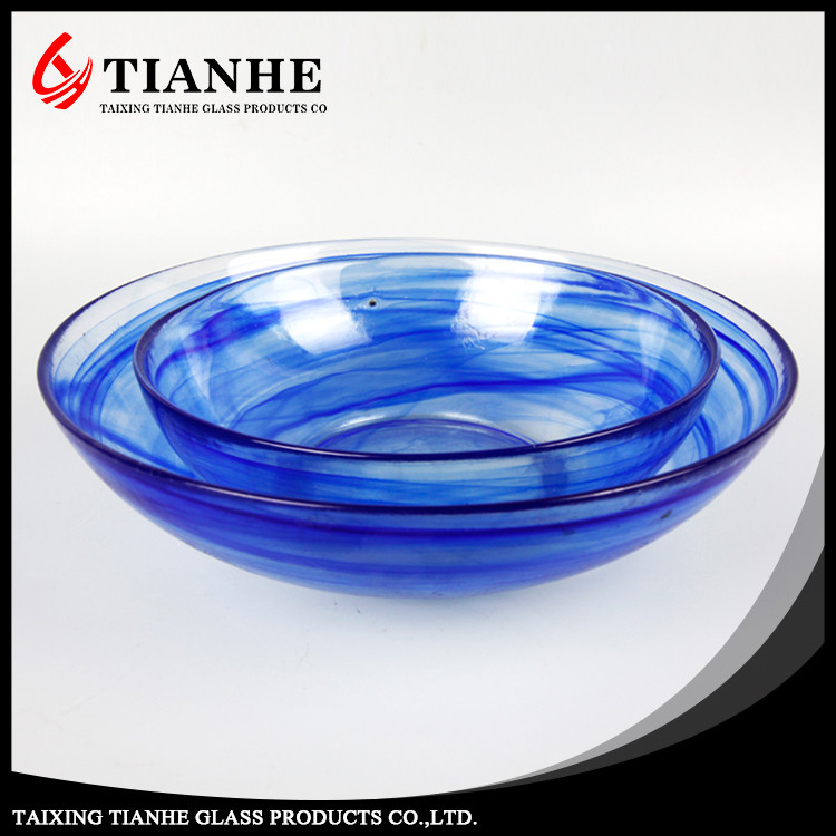 Tianhe first class quality customizable Blue Diaphanous glass stem and bowl