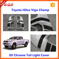 toyota hilux vigo body parts tail light cover taillamp cover for vigo rear light garnish covers for toyota vigo parts