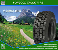China high quality low price hot sale 10.00R20-18PR Forgood Radial truck tire brand