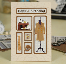 Handmade Gold Foil 3D Effect Father's Day Greeting Card Birthday Card Printing