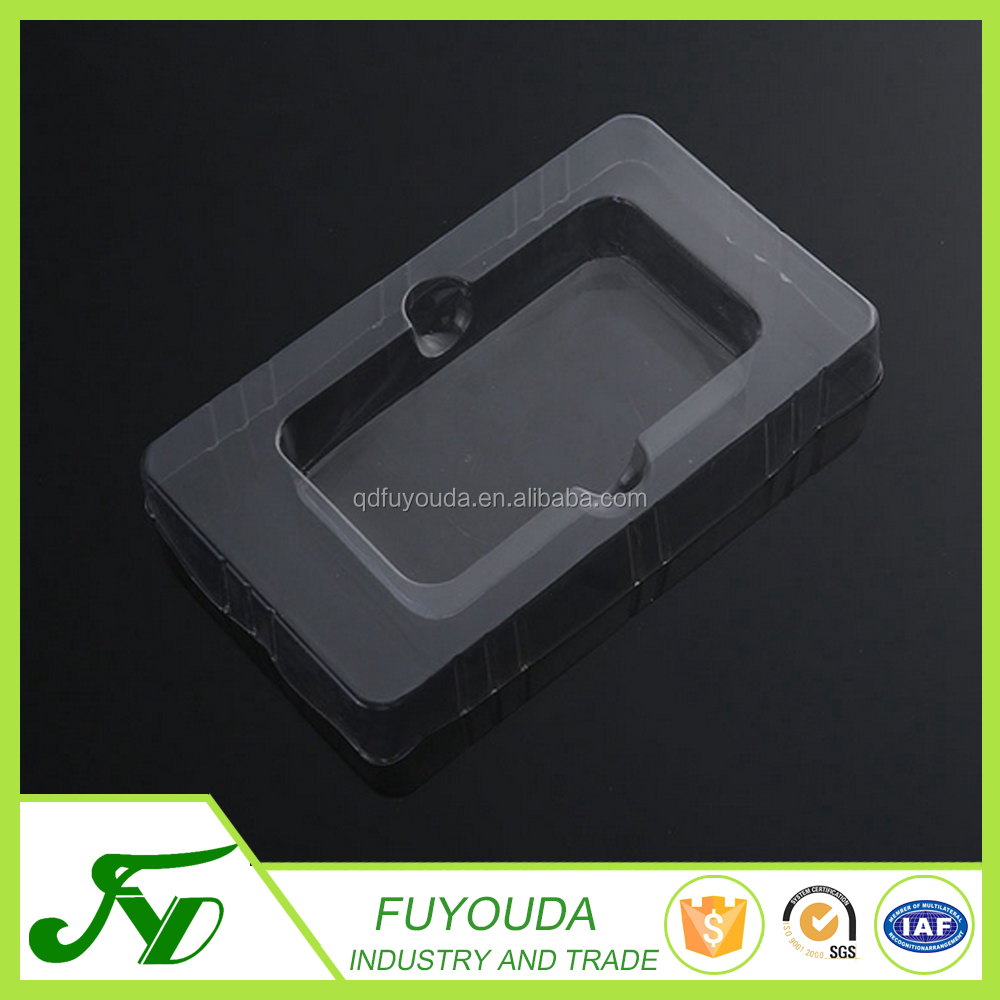 Wholesale custom produce unique design clear PET plastic blister clamshell box
