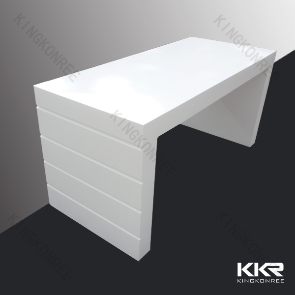 Royal white acrylic solid surface bar table