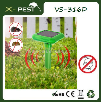 X-Pest VS-316D Solar Mole Repeller Gopher Repellent Repel Voles Mice Rats Rodent for Garden Yard Law
