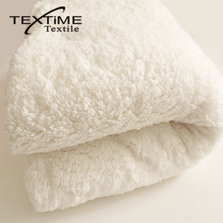 Cheap Price Cation Double Side Sherpa Fleece Fabric For Garment Toys Blanket Bathrobe Home Textile Shoes