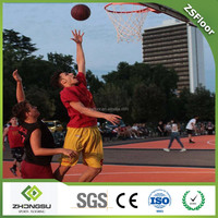 Portable indoor and outdoor used interlocking synthetic basketball court flooring