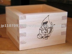 "Ohashiryoki Masu (a square wooden box) ""Ebisu"" (the god of wealth , the deity of commerce) (01019)"