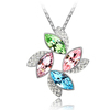 jewelry box white gold color made with swarovski element crystal flower necklace