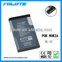 BL-5C battery for nokia 1100/ 1101/ 1110/ 1110i/ 1112/ 1200/ 1208/ 1209/ 1280/1600/ 1650/ 2300/ 2310/ 2600/ 2610