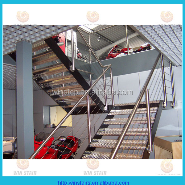 Stainless steel tension cable railing system/stair handrail