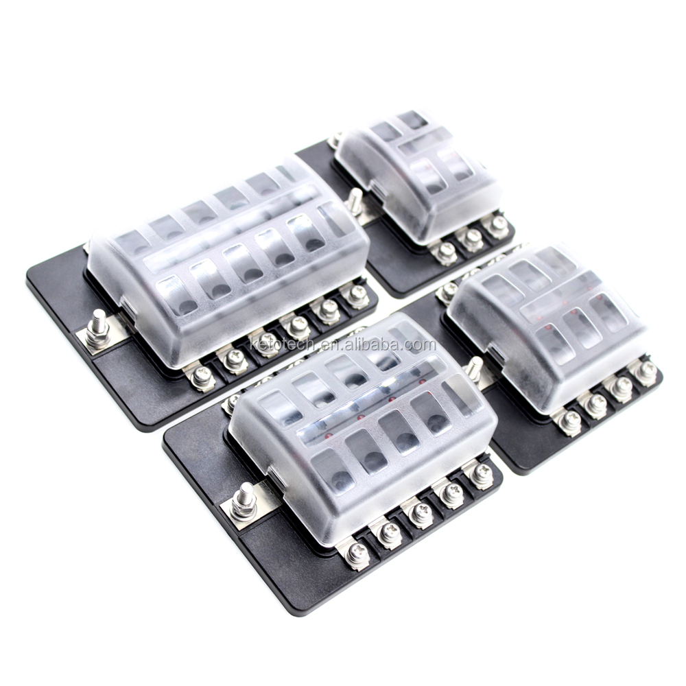 24v Waterproof 12 Way Circuit Jeep Boat Blade Fuse Box Buy Accessory For