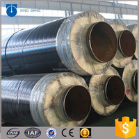 Best design insulation pipe with high density rockwool material and rolling support for Dubai factory construction