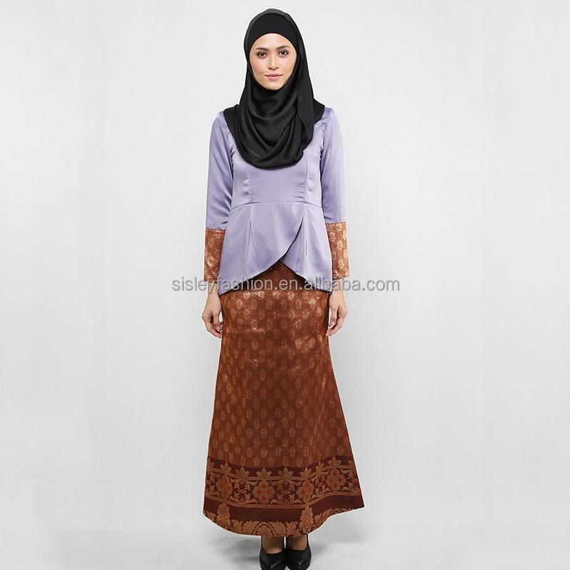 2016 High Quality Malaysia Baju Kurung Woman Arab Clothing Modern Muslim Dress High Quality