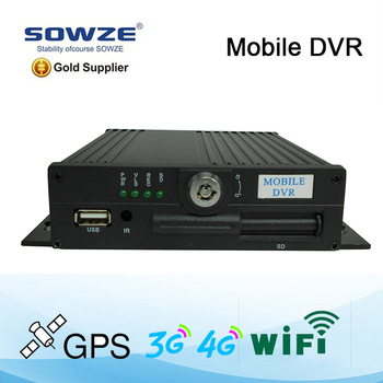 4ch real time mobile dvr player with H.264 Compression 3G mobile dvr with GPS google map tracking remote