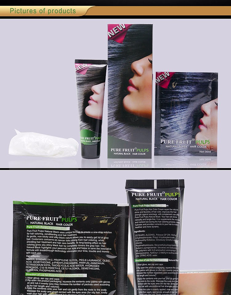 factory leaving price non allergic hair dye natural hair color without chemicals