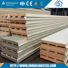 Cheap price m2 prefabricated house garage warehouse pir composite exterior sandwich panel