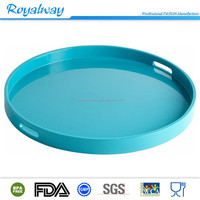 Hot selling 36cm PS/ABS food grade round plastic serving tray