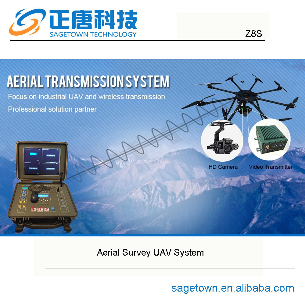 Z8S industry grade 5kg task load multi-rotors autonomous flight control agriculture resources survey uav plane