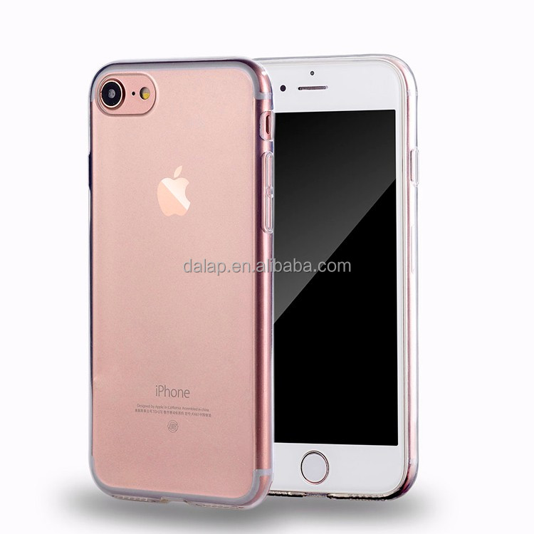 clear slim tpu phone case for iphone 7, for iphone 6 7 case tpu